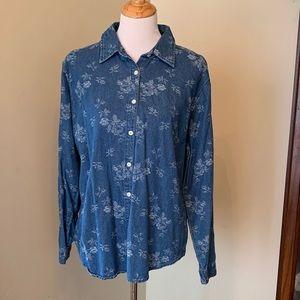 Size XL Gloria Vanderbilt Denim Shirt